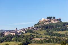 Dorf in Aveyron-Abteilung, Frankreich Stockfotografie