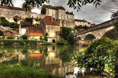 Dorf bei Pesmes, Burgunder - Frankreich Lizenzfreie Stockfotografie