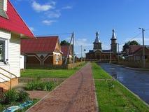 Dorf in Belarus Stockfotos