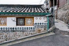 Dorf Bukchon Hanok, traditionelle Architektur in Seoul, Korea stockbild