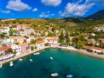 Dorf Cephalonia Assos in Griechenland Stockfoto
