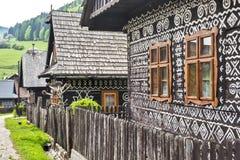 Dorf Cicmany - Slowakei Stockfotografie