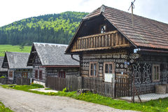 Dorf Cicmany - Slowakei Lizenzfreies Stockbild