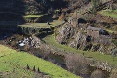Dorf Covelo de Paivo in Arouca, Portugal lizenzfreie stockbilder