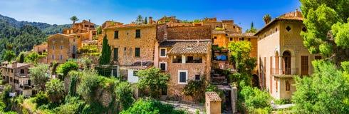 Dorf Deia Spaniens Majorca Stockfotografie