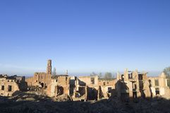 Dorf demolierter Belchite Stockfotos