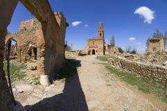 Dorf demolierter Belchite Stockbild