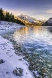 Dorf in den Alpen Stockfotografie