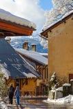 Dorf in den Bergen Stockfotografie