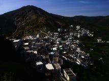 Dorf der ägäischen Inseln lizenzfreies stockbild