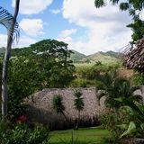 Dorf in der Dominikanischen Republik Stockbild