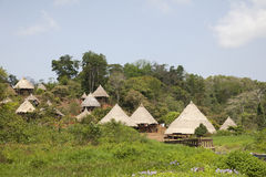 Dorf der Eingeborenen, Zentralamerika Stockfotos