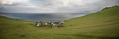 Dorf der Insel Mykines lizenzfreies stockfoto