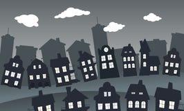 Dorf in der Nacht Lizenzfreies Stockfoto