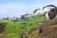 Dorf in der Schweiz Stockfotos