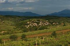 Dorf in der Weinherstellungsregion von Melnik Stockbilder
