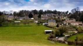 Dorf des Südens schüren in Somerset, England, Großbritannien Stockbilder