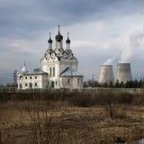 Dorf des Tainiskoye Bezirkes von Mytishchi Russland Lizenzfreie Stockbilder
