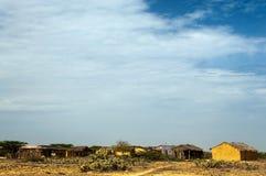 Einheimisches Dorf Stockbilder