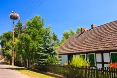 Dorf in Deutschland Lizenzfreies Stockfoto