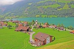 Dorf. Die Schweiz. stockbilder
