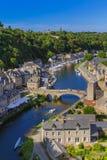 Dorf Dinan in Bretagne - Frankreich stockfoto