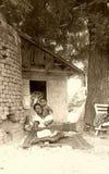 Dorf-Familien-Liebe Lizenzfreies Stockfoto