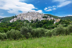 Dorf genanntes Pretoro in Chieti-Provinz (Italien) Lizenzfreie Stockfotos