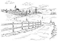 Dorf Golling ein der Salzach Lizenzfreie Stockfotos
