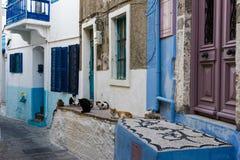 Dorf in Griechenland Stockfotografie