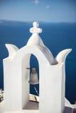 Dorf Griechenlands, Santorini-Insel, Oia, weiße Architektur Stockfotografie