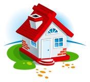 Dorf-Haus lizenzfreie abbildung