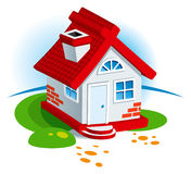 Dorf-Haus Stockfoto