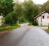 Dorf, Haus, Straße, ländlich, einzeln, alt, ländlich, zweitens lizenzfreie stockfotos
