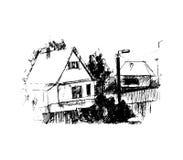Dorf, Illustration stock abbildung