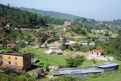 Dorf im Berg Stockfoto