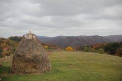 Dorf im Herbst Stockfoto