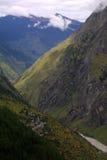 Dorf im Himalaja Stockfotografie