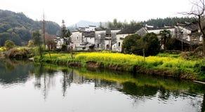 Dorf im Porzellan Lizenzfreies Stockbild