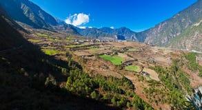Dorf im Südwesten China stockbild