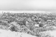 Dorf im Schnee Lizenzfreie Stockfotografie