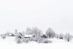 Dorf im Schnee Lizenzfreie Stockbilder