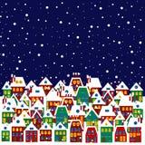 Dorf im Winter vektor abbildung