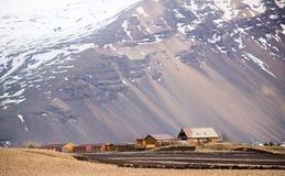 Dorf in Island Stockfotografie