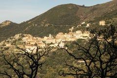 Dorf in Korsika Lizenzfreie Stockbilder