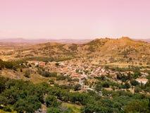 Dorf Monsanto in Portugal auf Sonnenuntergang Portugiesisches historisches Dorf Lizenzfreies Stockfoto