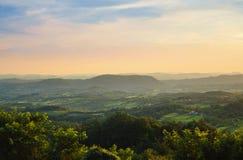 Dorf-Morgen in Serbien Lizenzfreies Stockfoto