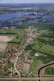 Dorf nahe Cottbus Lizenzfreie Stockfotos