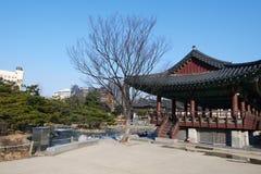 Dorf Namsangol Hanok, Seoul, Südkorea lizenzfreies stockfoto
