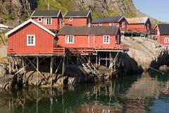 Dorf A, Norwegen 2 Stockfotografie